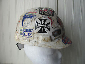 Union Hard Hat Union Stickers Crusty Dirty Americana Local 120 Laborers