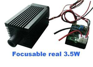 Focusable Real 3 5w 3500mw 445nm Blue Laser Module 9mm Diode Engraving Wood