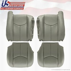 2003 To 06 Gmc Yukon Sierra 1500 2500 3500 Hd Upholstery Leather Seat Cover Gray