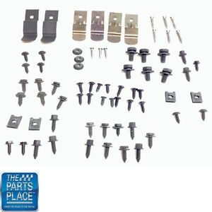 1970 72 Chevelle Dash Installation Bolt Kit 71 Pieces Gm 270790