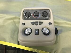 1999 2006 Chevy Tahoe Silverado Avalanche Tan Overhead Console Climate Homelink