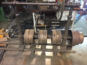 Antique Lathe Line Shaft