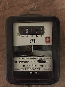 Rare Find Antique Vintage Ferranti Electric Meter Watthour Meter