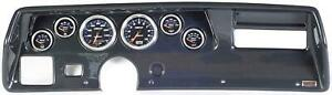 70 72 Chevelle Ss Carbon Dash Carrier W Auto Meter Cobalt Gauges