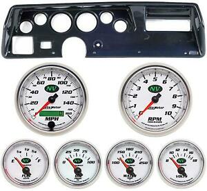 70 72 Chevelle Ss Carbon Dash Carrier W Auto Meter Nv Gauges