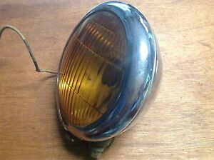 Vintage Appleton Fog Lamp Light Auto Truck Car Antique Amber Series 45a