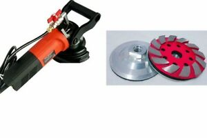 Travertine Concrete Aggregate Floor Wet Grinder Polisher 3 Lapidary Grinding Cup