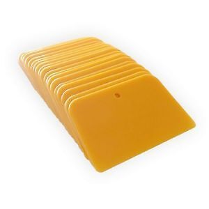 20 Pieces Of 4 Inch Yellow Bondo Spreaders Body Filler Fiberglass Spreaders
