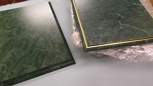 Mixed Lot Of 15 Trophy Parts Emerald Color Gold Cove 9 X 12 Plaque Boards