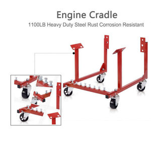 1100lb Auto Engine Cradle Stand Repair Lift Tool For Chevy V8 Cherolet W Dolly