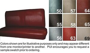 62 64 Nova 4 Door Sedan Wagon Reproduction Ss Straight Bench Seat Cover Pui