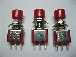 50 Pcs Momentary Red Push Button Switch 2a 5a 3pin