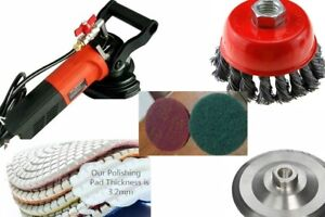 Wet Polisher Grinder Sander Stone Concrete Metal Stainless Steel Polishing Wood