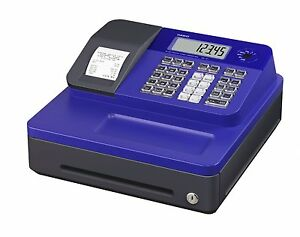 Casio Se g1sc bu Lcd Electronic Cash Register Thermal Printer With Blue Cabinet
