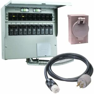 Reliance Controls Pro tran 2 50 amp Power Transfer Switch System 10 W St