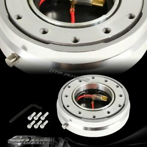 1 Silver 6 Hole Steering Wheel Short Quick Release Hub Adapter Universal