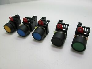 Lot Of 5 Omron A22 10 Push Button Momentary Switches Normally Open Contact