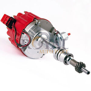 Red Cap Distributor Sbf For Ford Sm Block 260 289 302 Hei Ignition W 65k Coil