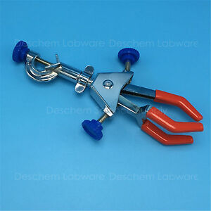 Swivel Flask Clamp three prong test Tube condenser Lab Holder two adjustable