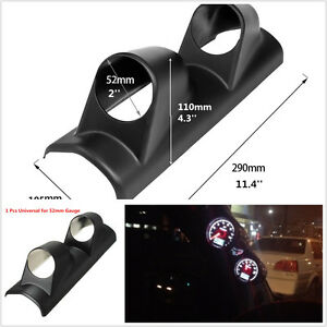 2 A Pillar Meter Gauge Bracket Mount Holder Pod Protect Heavy Duty Racing Sport
