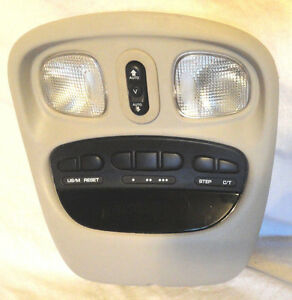 2006 2008 Dodge Ram Tan Console W Digital Display Homelink Sunroof Switch