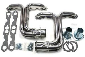 Patriot Full Length Street Rod Headers Silver Ceramic Coated 1 1 2 Tubes H80171