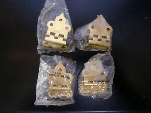 4 Cabinet Door Hinges Restoration New Old Stock Hardware Reproduction Brass