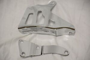1969 Chrome Big Block Chevy 396 427 454 Alternator Bracket Set Lwp Brackets