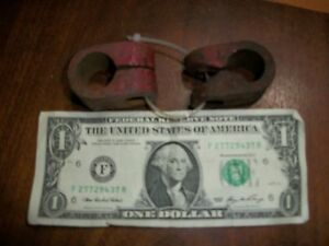 Pair Tractor Vintage Farmall Cast Iron Clamp Bracket Old Light Mount Antique
