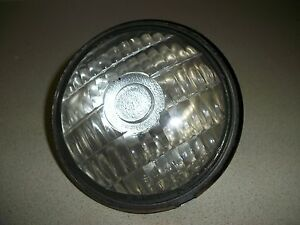 Guide Sealed Beam Tractor Lamp Light Pancake Nos 6 Volt Clear Glass Antique Bulb