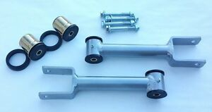 68 72 A Body Chevelle Upper Control Arms W Poly Housing Bushings Hardware Silver