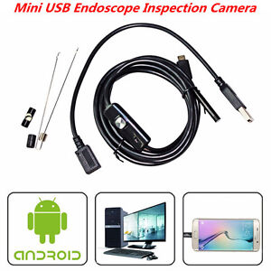 Otg 7mm Usb Endoscope Inspection Camera 6led Borescope For Android Pc Waterproof