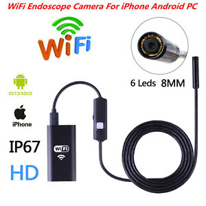 Hd Wifi Usb Endoscope Inspection Borescope Camera Waterproof For Iphone Android