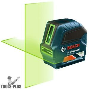 Self leveling Green beam Cross line Laser Bosch Tools Gll 100 G New