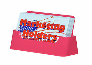 Qty 400 Pink Business Card Stands Holder Display Wholesale Lot Plastic