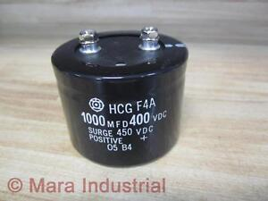 Hitachi Hcgf4a Capacitor 1000 Mfd 400 Vdc pack Of 3 Used