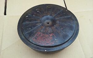 Vintage Chevy Ford Oil Bath Air Cleaner Carb Opening 2 7 8 Wide