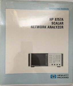 Hp 8757a Scalar Network Analyzer Operating Manual P n 08757 90001