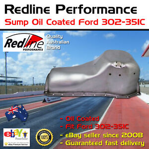 New Redline Sump Oil Coated Oil Pan Ford 302 351 Cleveland