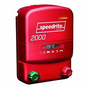 Speedrite Electric Fence Charger 2000 Unigizer New