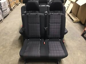 2016 Mercedes Metris Black Cloth Van 2nd Row 2 Person Rear Bench Seat