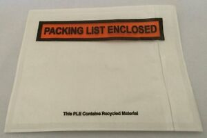 1500 4 5x5 5 Clear Self adhesive Shipping Label Envelopes Packing List Enclosed