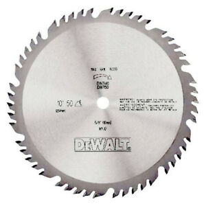 Dewalt 10 In 50 Tooth Combination Circular Saw Blade Dw7640 New