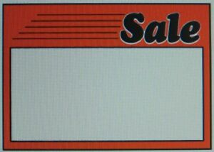 10 Large Sale Promotion Sign Card Price Tag 11 x7