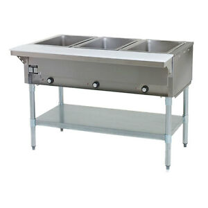 Eagle Group Dht3 120 48 Inch Electric Steam Table Open Well 3 Compartments