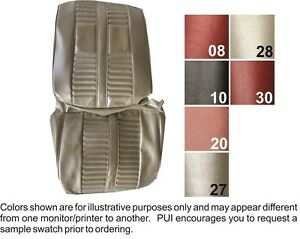 1966 Oldsmobile Cutlass Holiday Front Seat Covers Pui