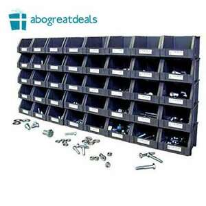 Metric Nut And Bolt Assortment Grade 8 Storage Organizer 800 Piece 40 Open Bins