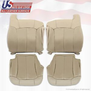 1999 2000 2001 2002 Chevy Tahoe Suburban Upholstery Leather Seat Cover Light Tan