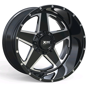 4 Four 20x12 Off Road Wheels Xtreme Mudder Dodge Ford Black 44 Offset