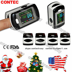 Us Ship Fingertip Pulse Oximeter blood Oxygen spo2 Monitor oled Usb sw alarm fda